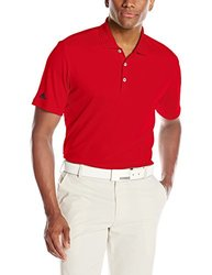 adidas Golf Men's Performance Polo Shirt, Power Red, Medium