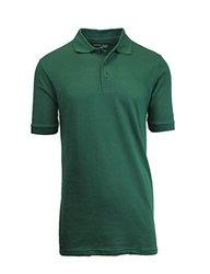 Men's Premium Quality Pique Polo -hunter Green-large