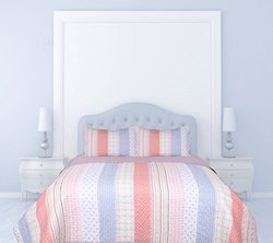Dainty Home Stripes 3 Piece Quilted Reversible Bed Spread with Cotton Filling, King