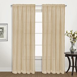 United Curtain Co. pack Venice Curtains 2, Gold
