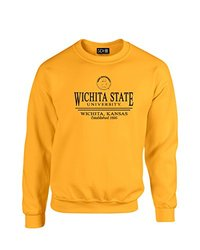 NCAA Wichita State Shockers Classic Seal Crew Neck Sweatshirt, X-Large, Gold