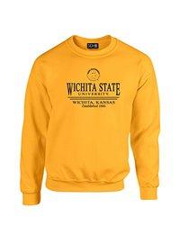 NCAA Wichita State Shockers Classic Seal Crew Neck Sweatshirt, X-Large, Gold