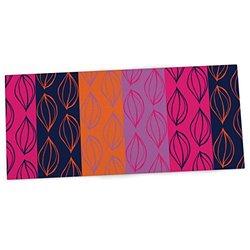 "KESS InHouse Anneline Sophia ""Tropical Seeds"" Pink Orange Office Desk Mat, Blotter, Pad, Mousepad, 13 x 22-Inches"
