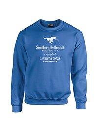 NCAA Smu Mustangs Stacked Vintage Crew Neck Sweatshirt, X-Large, Royal