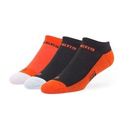 NHL Philadelphia Flyers '47 Brand Gait Team Color No Show Socks, Medium (Men's 5-8.5 / Women's 5-9.5), 3-Pack