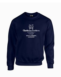 NCAA Charleston Southern Buccaneers Stacked Vintage Crew Neck Sweatshirt, Small, Navy