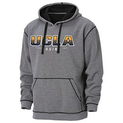 NCAA Ucla Bruins Loud and Fast High Performance Transition Hoodie, Large, Charcoal Heather/Black