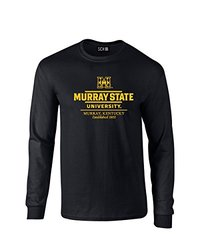 NCAA Murray State Racers Classic Seal Long Sleeve T-Shirt, Small, Black