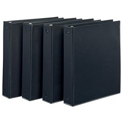 Avery Economy View Binder with 1.5-Inch Round Ring, Black, Pack Of 4 (19204)