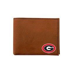 NCAA Men's Georgia Bulldogs Classic Football Wallet - Brown - Size: One