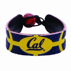 GameWear Cal Golden Bears Leather Basketball Bracelet Multi/None