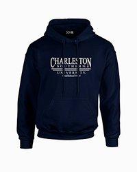 NCAA Charleston Southern Buccaneers Classic Seal Long Sleeve Hoodie, Medium, Navy