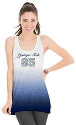 NCAA Georgia Tech Women's Jess Dip Dye Tank Top, Small, Navy