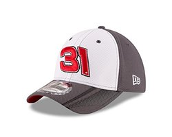 NASCAR Ryan Newman 2016 Kid's 39THIRTY Stretch Fit Alt Driver's Cap, White/Graphite, Toddler/Child