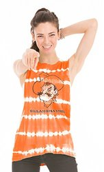 NCAA Oklahoma State Cowboys Women's Bodda Bamboo Muscle Tank Top, Small, Orange