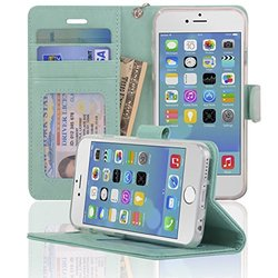 Navor Protective Flip Wallet Case for iPhone 6/6S - Mint