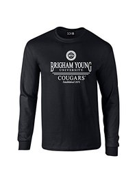 NCAA Byu Cougars Classic Seal Long Sleeve T-Shirt, Small, Black
