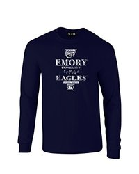 NCAA Emory Eagles Stacked Vintage Long Sleeve T-Shirt, Large, Navy