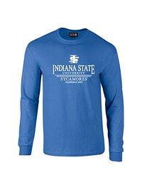 NCAA Unisex Indiana State Classic Seal Long Sleeve T-Shirt - Royal -Medium