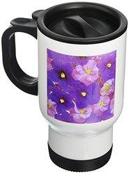 Floating Flower Design Stainless Travel Mug