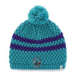 NBA Hardwood Classic Charlotte Hornets Women's small '47 Kendall Beanie Knit Hat, Neptune