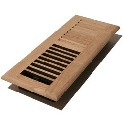 "Decor Grates 2"" x 10"" Unfinished Oak Wood Floor Register"