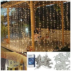 "Teeke 9.8""x9.8"" 304 Led Christmas Fairy Strings Curtain Light - Warm White"