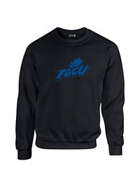 NCAA Florida Gulf Coast Eagles Mascot Foil Crew Neck Sweatshirt, Large, Black