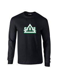 NCAA Emory Eagles Mascot Foil Long Sleeve T-Shirt, Medium, Black