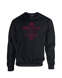NCAA Iowa State Cyclones Stacked Vintage Crew Neck Sweatshirt, Small, Black