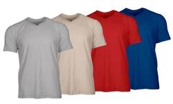 Men's Slub Cotton V-neck T-shirt Mystery Deal (3-pack): Large