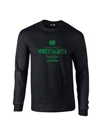 NCAA North Dakota Stacked Vintage Long Sleeve T-Shirt, Medium, Black