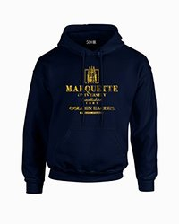 NCAA Marquette Golden Eagles Stacked Long Sleeve Hoodie - Navy - XXL