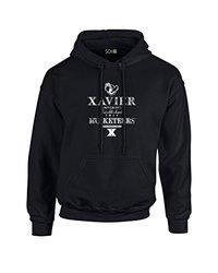NCAA Xavier Musketeers Stacked Vintage Long Sleeve Hoodie, Small, Black