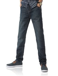 Demon&Hunter Classic Series Men's Straight Leg Jeans - Navy - Size:36Wx32L