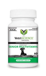 VetriScience Canine Plus Cat Senior Multivitamin Mineral Suppl Chew 60ct