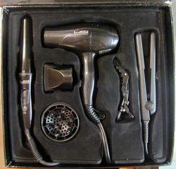 HSI Travel Kit Mini Flat Iron Curling Wand & Blow Dryer - 2.85 Pound