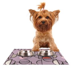 "Kess InHouse Gill Eggleston ""Emmanuel"" Feeding Mat for Pet Bowl, 24 by 15-Inch"