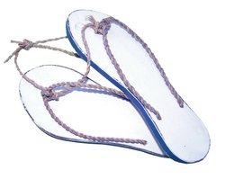 Cohasset 310B Sandals Pair, Blue and White