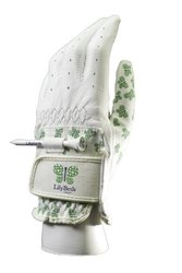 LilyBeth Golf Women's Printed Butterfly Tee Holder Gloves - Multi - Sz: XL