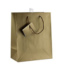 PC Solid Color Gift Bags Matt Laminated Gold Color 12