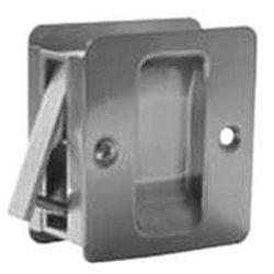 Kwikset Closet Pocket Door Lock - Antique Brass