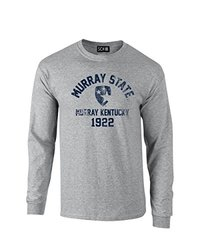 SDI NCAA Murray State Racer Mascot Long Sleve Tee - Sport Grey - Size: XXL