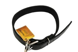 """Dean and Tyler """"B and B"""", Basic Leather Dog Collar with Strong Nickel Hardware - Black - Size 24-Inch by 2-1/2-Inch - Fits Neck 22-Inch to 26-Inch"""