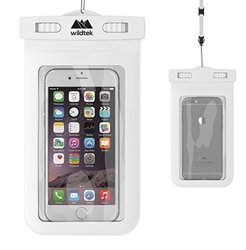 Wildtek Waterproof Case with Adjustable Neck Strap - White