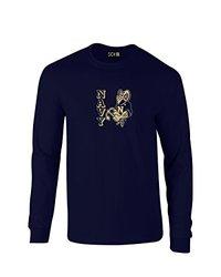 NCAA Navy Midshipmen Mascot Foil Long Sleeve T-Shirt, XX-Large, Navy