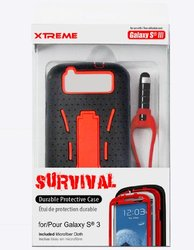 Xtreme Survival Durable Protection for Samsung Galaxy S3 - Retail Packaging - Red
