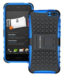 Fire Phone Case, BUDDIBOX [Wave] Slim Rugged Durable Protective Case with Kickstand for Amazon Fire Phone, (Blue)