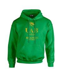 NCAA Alabama Birmingham Blazers Stacked Vintage Long Sleeve Hoodie, Large, Irish Green