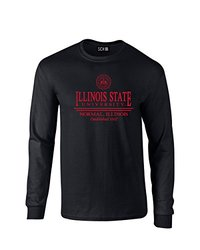 NCAA Illinois State Redbirds Classic Seal Long Sleeve T-Shirt, X-Large, Black